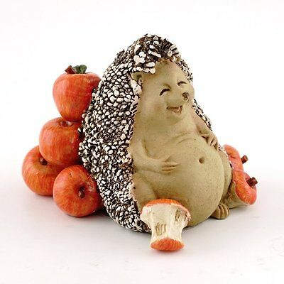 Hedgehog Food Coma from Eating Apples Miniature Statue (4407) 2 Inches High
