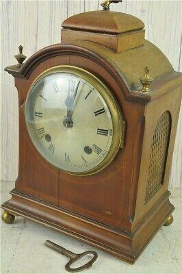 Antique Mantle Clock Wood & Brass Case  - No Makers Name, Spares & Repairs