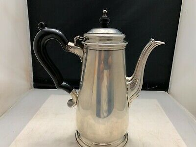 "TIFFANY & CO. STERLING SILVER EBONY HANDLE TEAPOT  8 1/2""  1.5 PINT 648g.  WOW"