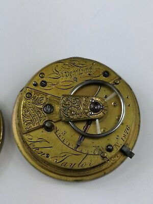 John Taylor, Liverpool Chain Driven Pocket Watch Movement For Repair Project AX1