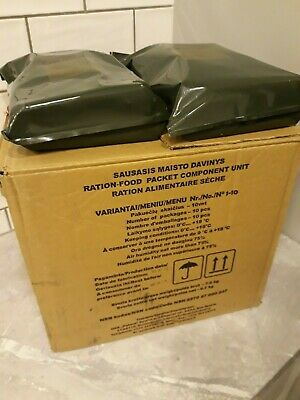 FULL BOX (10 pcs.) MRE Lithuanian Army military ration meal ready to eat 2020