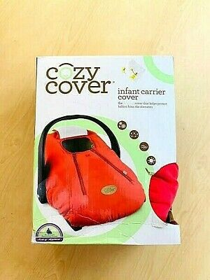 Cozy Cover Infant Carrier Cover RED NEW free shipping