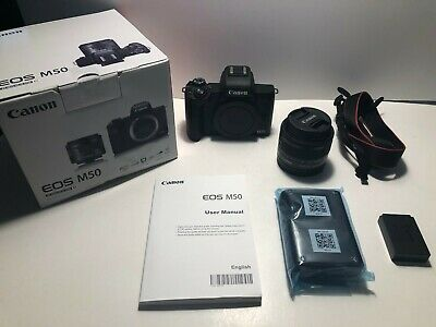 **MINT** Canon EOS M50 Mirrorless Camera Kit w/EF-M 15-45mm lens
