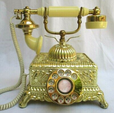 Vtg..brass & Gold Plated..victorian..french Style..ornate..rotary..telephone