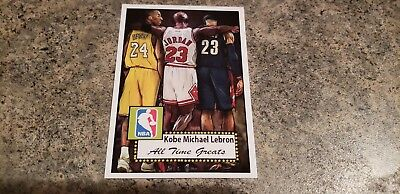 Kobe Bryant-Michael Jordan-Lebron James 1952 Style  Aceo Art Basketball Card $$