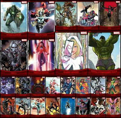 Topps Marvel Collect DECADES 2010s [25 CARD RED BASE SET] Ghost-Spider/Gwenpool+
