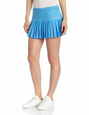 New Fred Perry: Blue Pleated Tennis Ball Skirt With Built-In Shorts Size 16