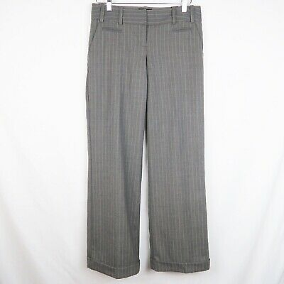 The Limited | Womens Drew Fit Gray Pinstripe Dress Pants Size 2 Regular