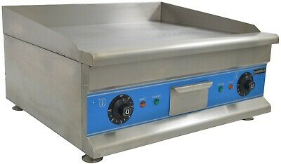"24"" Countertop Commercial Electric Griddle, Dual Thermostat 110V/60Hz 3200 Watts"
