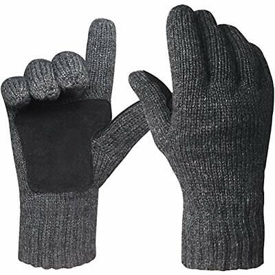 Winter Cold Weather Gloves For Men Women Warm Knit Thermal Fleece Lined Mittens