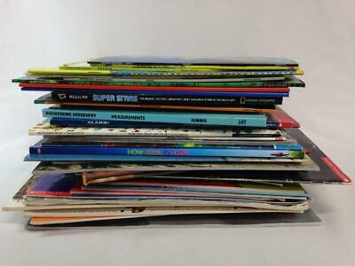 LOT of 54 Kids NONFICTION Picture Books,Grade School Science,Nature,History,Math