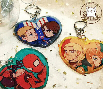 Steve Captain America 3 Civil War Bucky Cute Cat Ear Keyring Keychain Strap Be