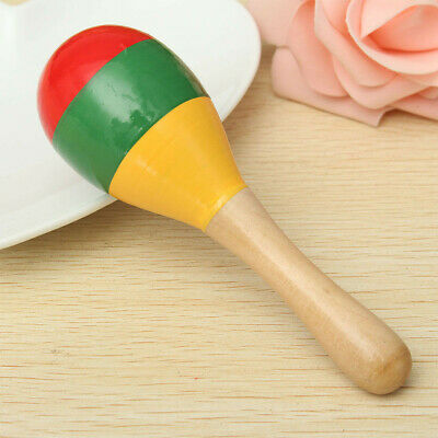 10pcs Musical Party Rumba  Instrument Wooden Rattle Toddler Baby Toy