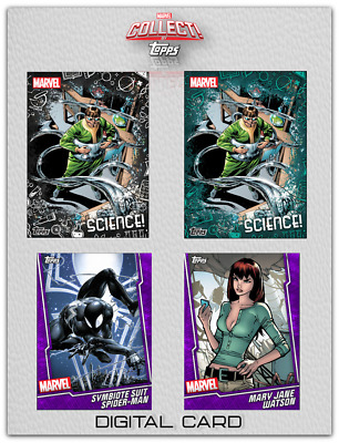 2019 FUSION FRIDAY SCIENCE DOC OCK MJ++ SET OF 4 CARDS Marvel Collect Digital