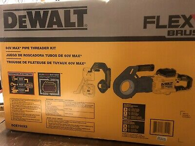 60V MAX PIPE THREADER KIT DCE700X2  Flex volt Brushless ** BRAND NEW **
