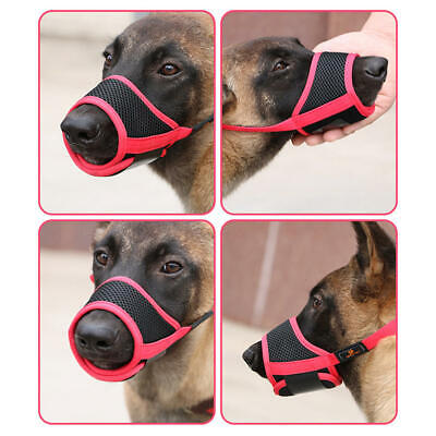 Dog Mouth Muzzle Adjustable Puppy Mesh Breathable Anti-bite Stop Chewing