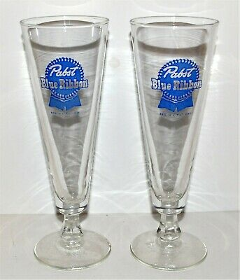 Pabst Blue Ribbon Pilsner Beer Glasses