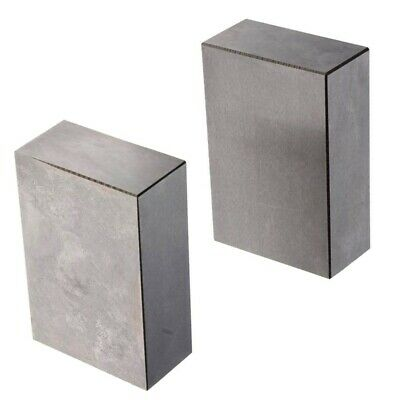 1 Pair 123 Blocks 1-2-3 Ultra Precision 0.0002 Hardened Without Holes F7U3