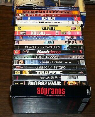 DVD Lot Collection of 19 Movie Videos Assorted Action Drama Comedy Documentary
