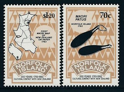 1993 Norfolk Island Cultural Contact With New Zealand Set Of 2 Fine Mint Mnh