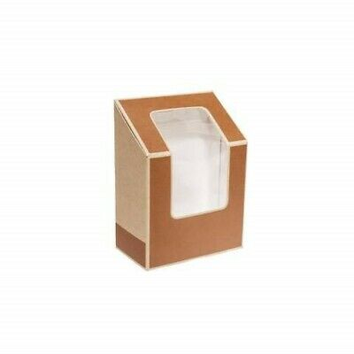 Biodegradable Box for Tortillas, Brown Bakery Kraft Boxes, Double Wrap Sleeves