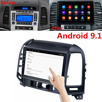 "9"" Android 9.1 Stereo Radio GPS Navigation 3G 4G For Hyundai Santa Fe 2005-2012"