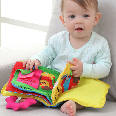 Baby Soft Cloth Book Early Educational Newborn Crib Toys for 0-36 Months Infants