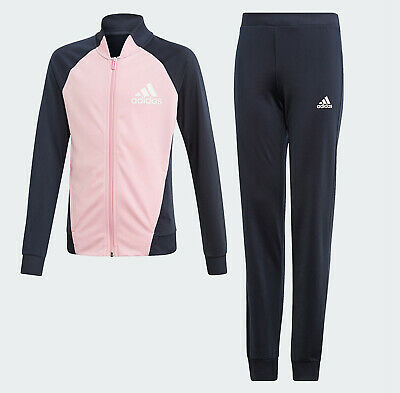 Girls adidas Tracksuit Set Age 14-15 pink training track top & pants pink NEW
