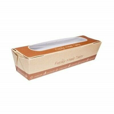 Baguette Box, Brown Kraft Paper Tray Box, Regular Paperboard Container Boxes