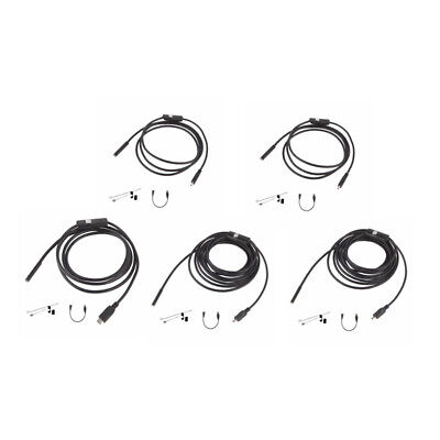 6 LED 7mm Lens Waterproof Mini USB Inspection Borescope Camera For Android E 1C8
