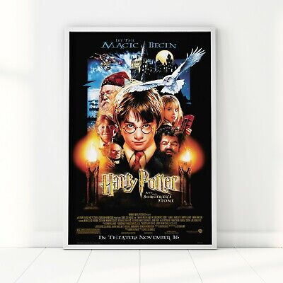 Harry Potter and the Sorcerers Stone Movie Poster 2001 Film Vintage Print A2 A3