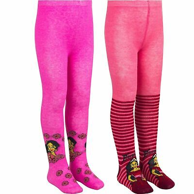 Childrens Kids Girls Disney Elena of Avalor Red Pink Tights Age 3-10 Years