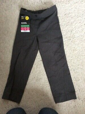 BHS Girls Age 4 Grey School Trousers Adjustable Waist Stain Resistant