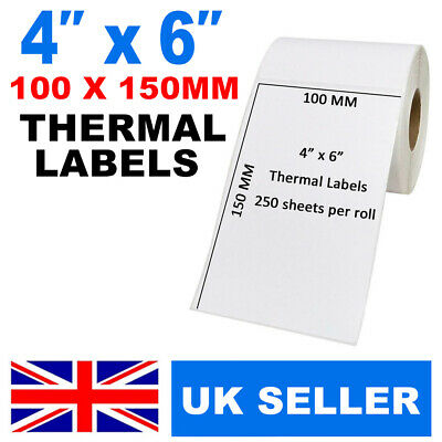 250-100 x 150mm Direct Thermal Labels with perf Zebra Printers Toshiba