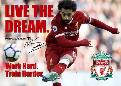 Liverpool Player NEW Motivational Mo Salah Poster #7 A3-420mm x 297mm