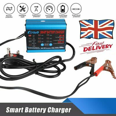 Car Smart Battery Charger Automatic Intelligent 12V 6V Cars Bike Vans 10A AMP UK