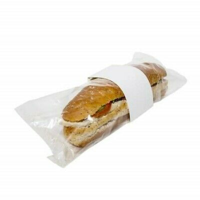 White Baguette Collar w/ Perforated Film, Transparent Baguette Bag, Clear Panel