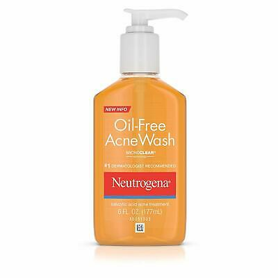 Neutrogena Oil-Free Acne Wash 6 oz GREAT PRICE AND FREE SHIPPING EXP 12/2020