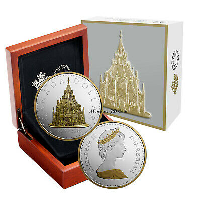 2016 Canada $1Library Of Parlement Renewed Big Coin  Fine Silver Original Mint
