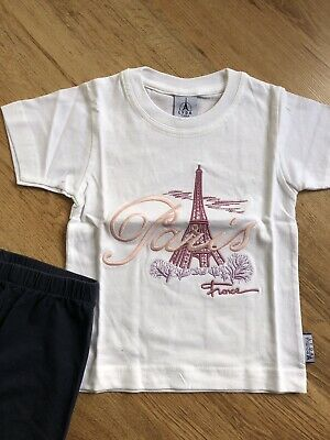 Paris T Shirt Age 2 NEW And Free Navy Leggings