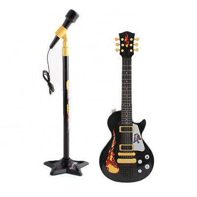 Children Guitar Musical Toys Set with Stand Microphone Kids Guitar Toy Xmas Gift
