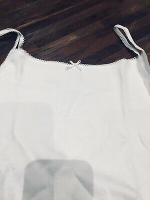 Girls White Pure Cotton Camis -Marks & Spencer - new in packaging - age 9-10 y