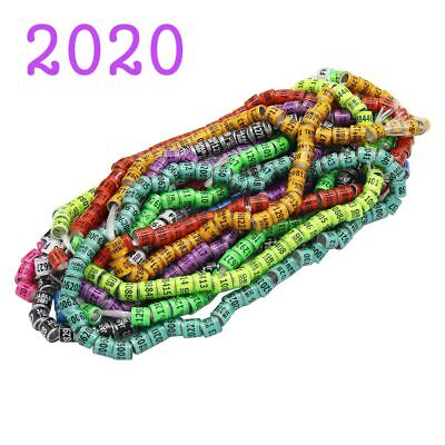 50 Pcs 2020 Multicolor Pigeon Foot Ring With Word Earrings Quality Durable Bird