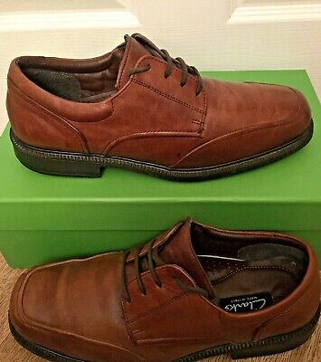 Clarks Made In Italy Men's Tan Leather Shoes Size UK/9