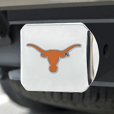 University of Texas Color Emblem on Chrome Hitch Cover