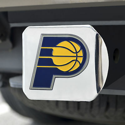 Indiana Pacers Color Emblem on Chrome Hitch Cover