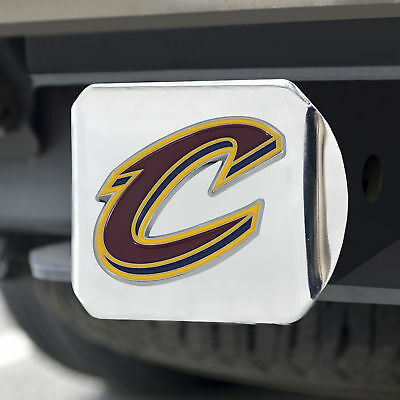 Cleveland Cavaliers Color Emblem on Chrome Hitch Cover