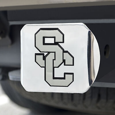 University of Southern California Chrome Emblem on Chrome Hitch Cover