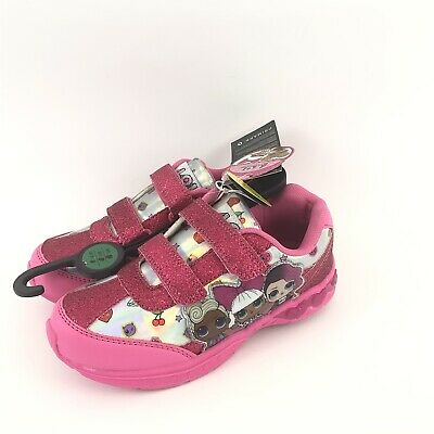 Primark LOL Surprise PINK Light Up Kids Shoes Trainers Sneakers Sz Uk 1 NEW
