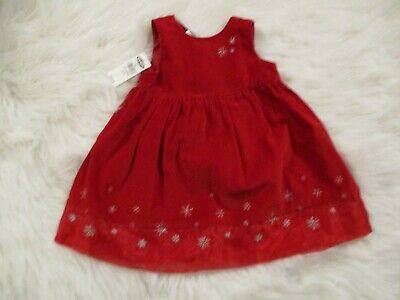 Old Navy Baby Girls Soft Red Winter Jumper 12-18 Mo Christmas Holiday Party NWT